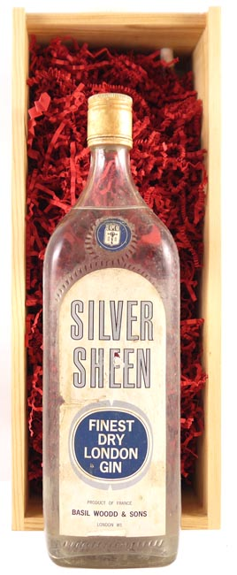 1960's Silver Sheen Finest Dry London Gin (1960's) 1 Litre