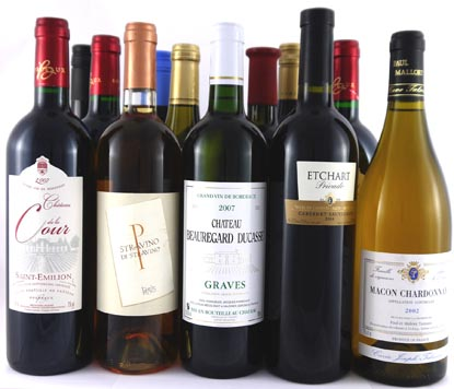 Stockists of 12 bottles mixed red & white