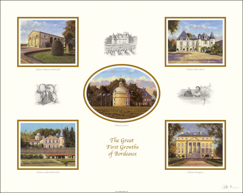The Great First Growths of Bordeaux Print