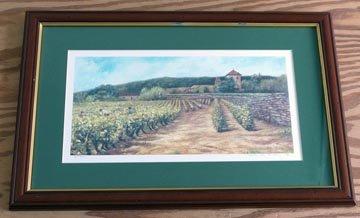 Framed David Eley Vineyard Limited Edition Signed Print